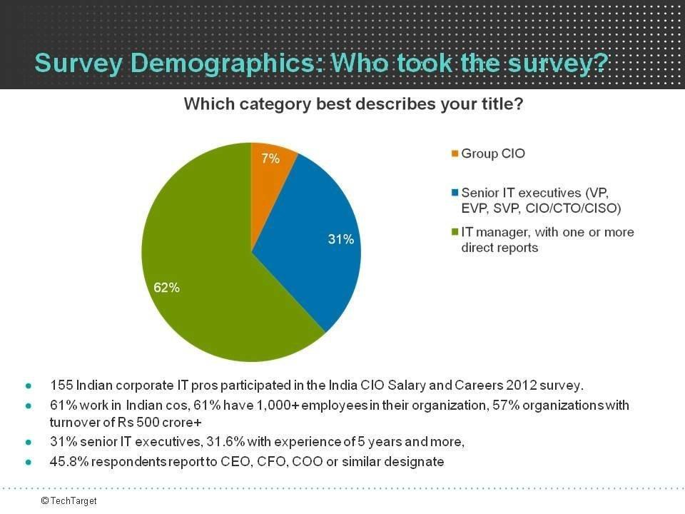 Survey demographics: Who took the survey? - India CIO