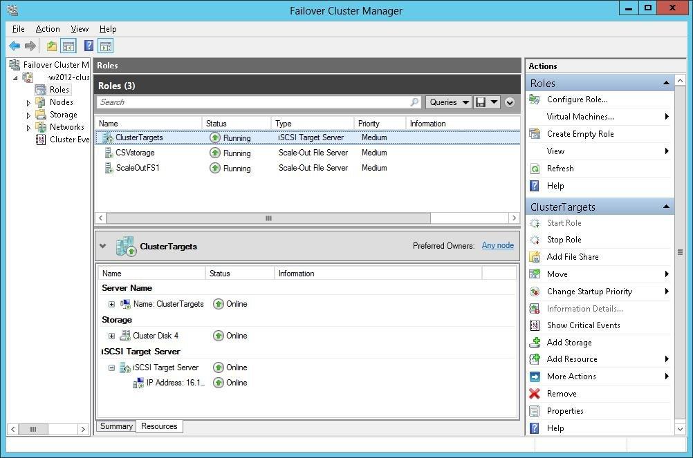 iSCSI-Targets auf Failover-Clustern unter Windows Server ...