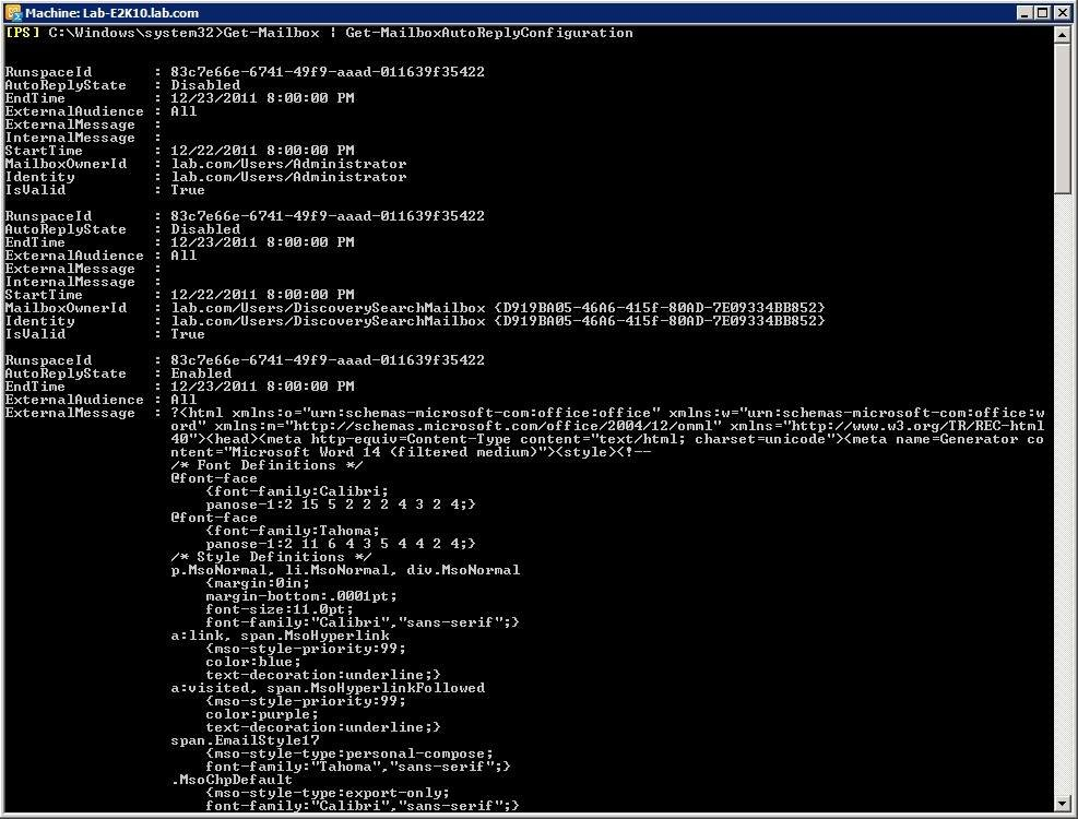 Use PowerShell to examine your users' out-of-office messages.