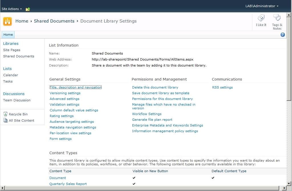 Protecting SharePoint 2010 document libraries with IRM