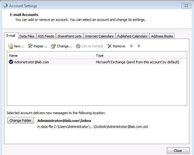 Try to repair the Outlook user's email account.