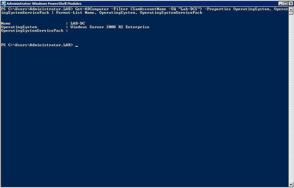 Use PowerShell to get operating system info about your servers.