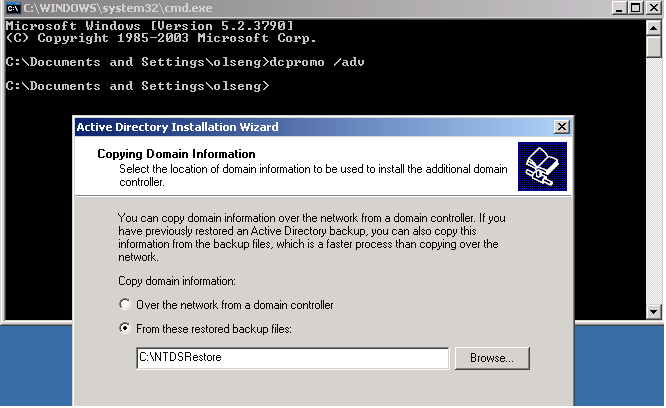 Figure 1. IFM was implemented in Windows Server 2003
