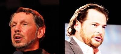 Larry Ellison and Marc Benioff