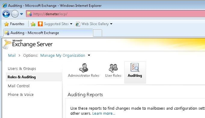 Use the Exchange Control Panel to run various reports