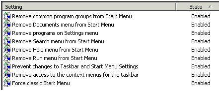 Desktop restrictions with Group Policy Objects