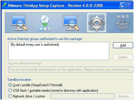 Using VMware ThinApp for application virtualization
