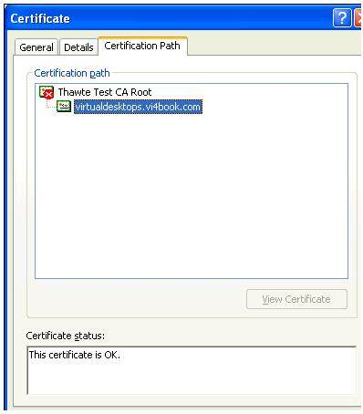 Creating and applying certificates in VMware View