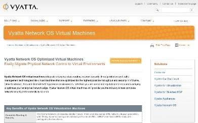 Vyatta virtual network segmentation
