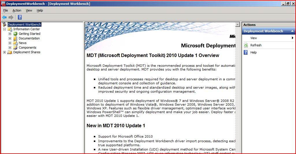 Getting started with Microsoft Deployment Toolkit 2010