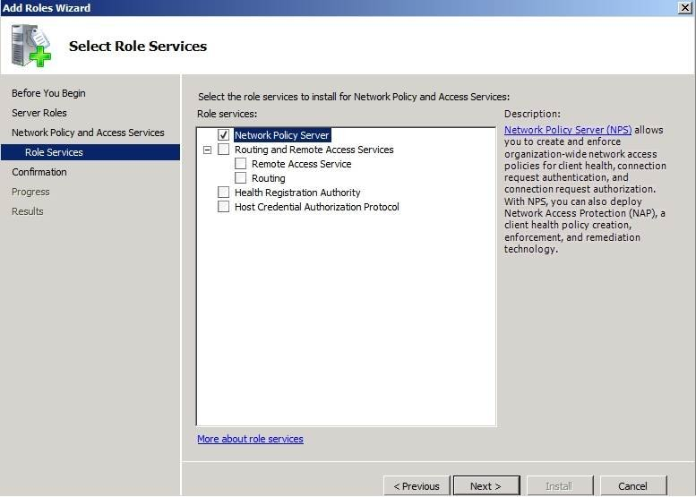 RADIUS authentication Windows 2008: How to authorize VPN traffic