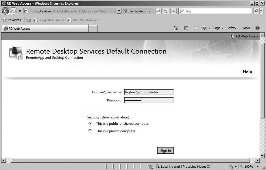 Adding Remote Desktop Services and RemoteApp programs