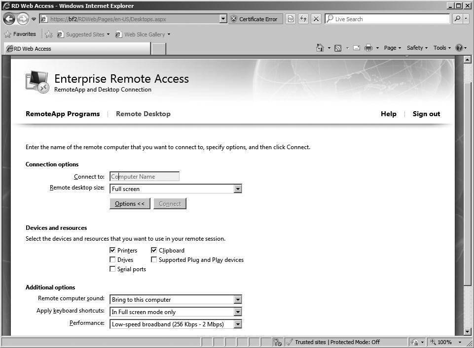 Adding Remote Desktop Services And Remoteapp Programs