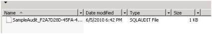 Verifying a SQL Server audit
