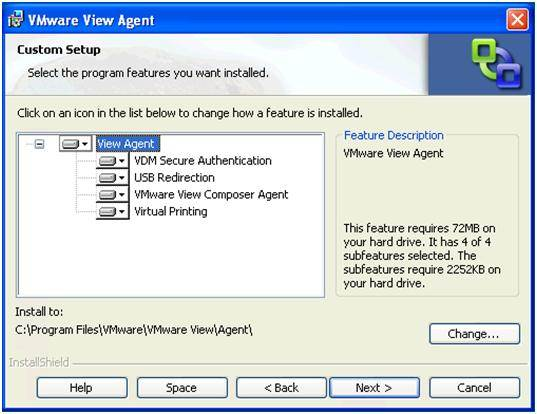 Installing VMware View components