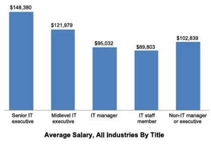 Average CIO salary in 2010