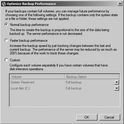 Windows server backup in Windows Server 2008 R2