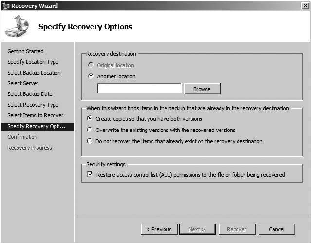 Bare-metal, system state recovery in Windows Server 2008 R2
