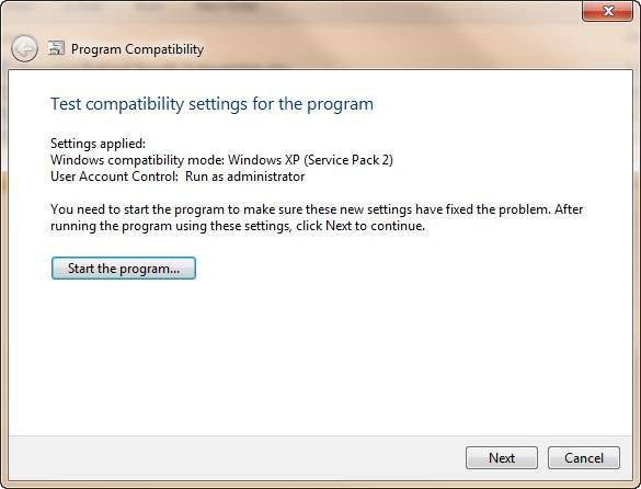 How to make legacy applications run on Windows 7