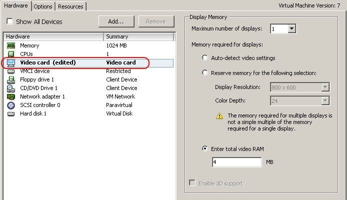 VMware virtual machines in vSphere: Options and hardware
