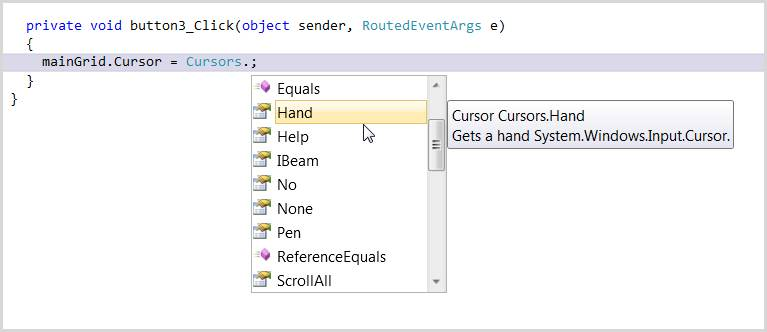 Changing the cursor in WPF