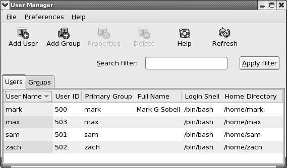 Enabling User Manager in Red Hat Enterprise Linux