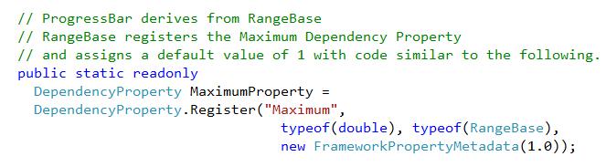 Understanding Default values for Dependency Properties