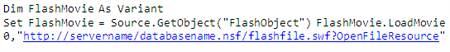 LotusScript to open flash file in Lotus Notes
