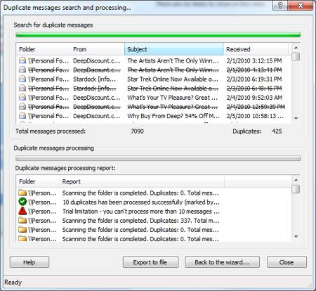MAPilab's Duplicate Email Remover tool for Outlook