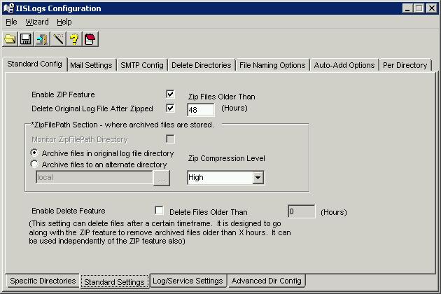 Controlling IIS log file growth with IISLogs 2 0 utility