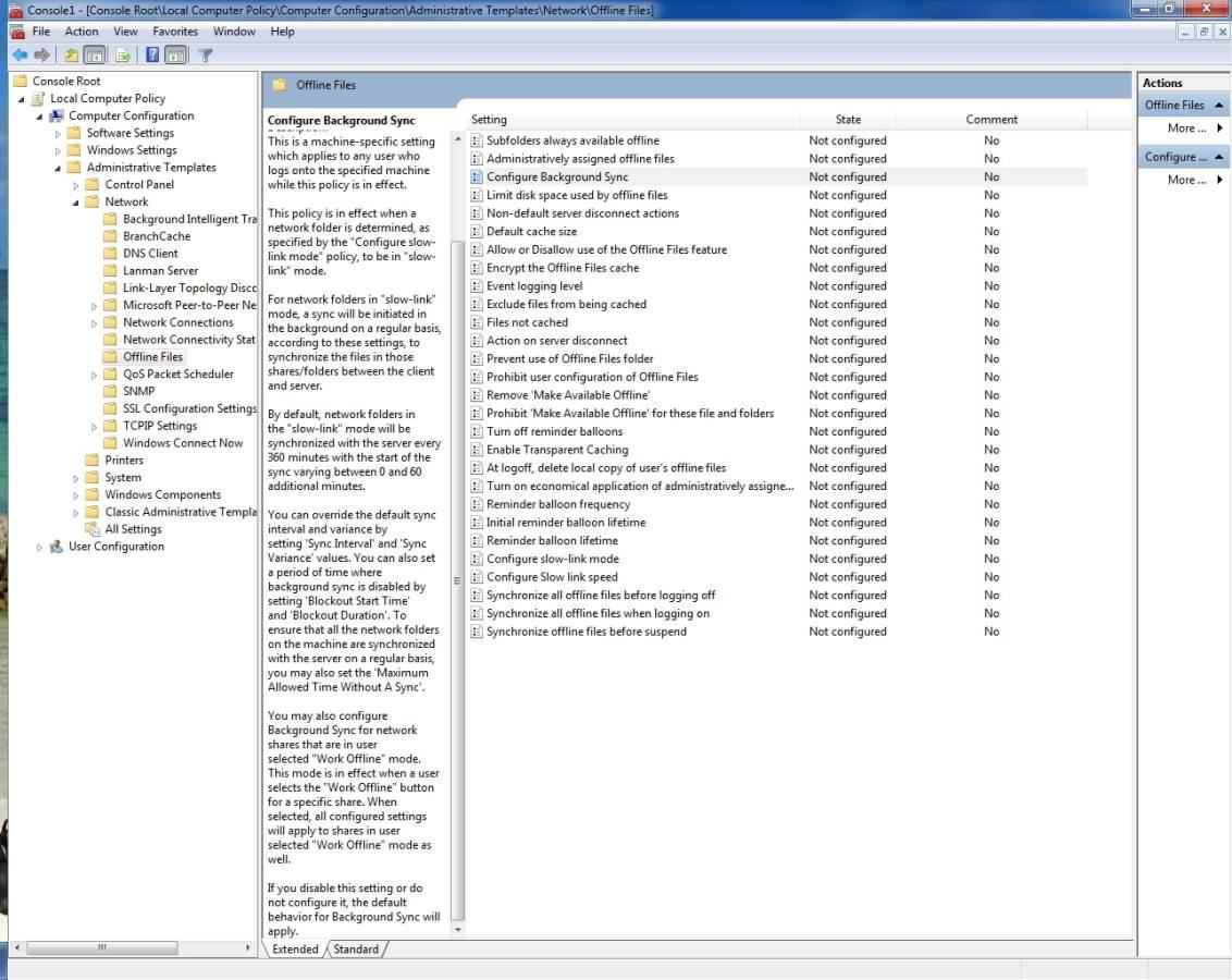 Improvements to offline file synchronization in Windows 7