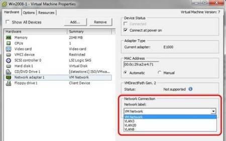 How to configure Virtual Switch Tagging for vSphere VLANs