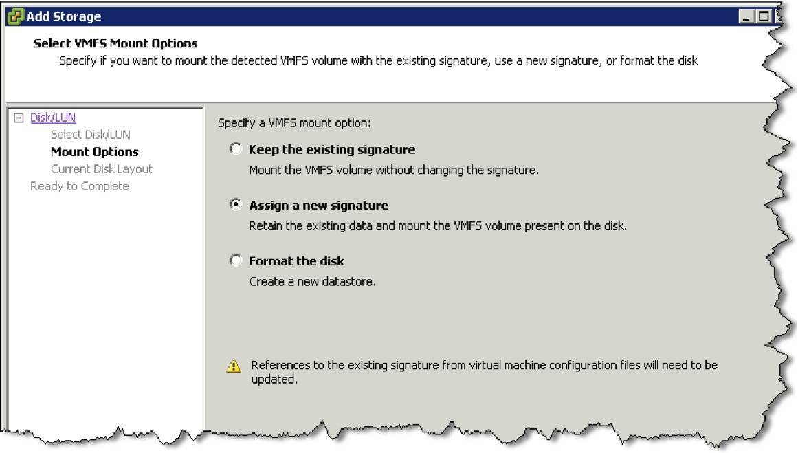 The mechanics of VMware Site Recovery Manager resignaturing
