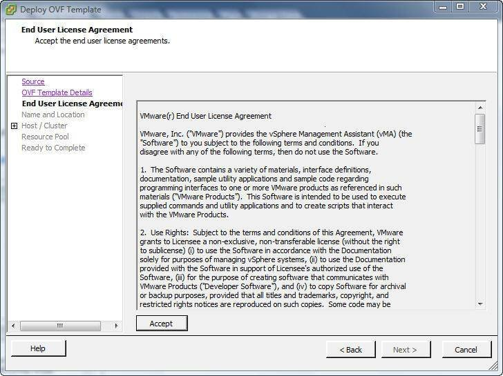 Using the new VMware vSphere Management Assistant (vMA)