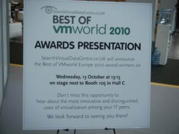 User awards sign