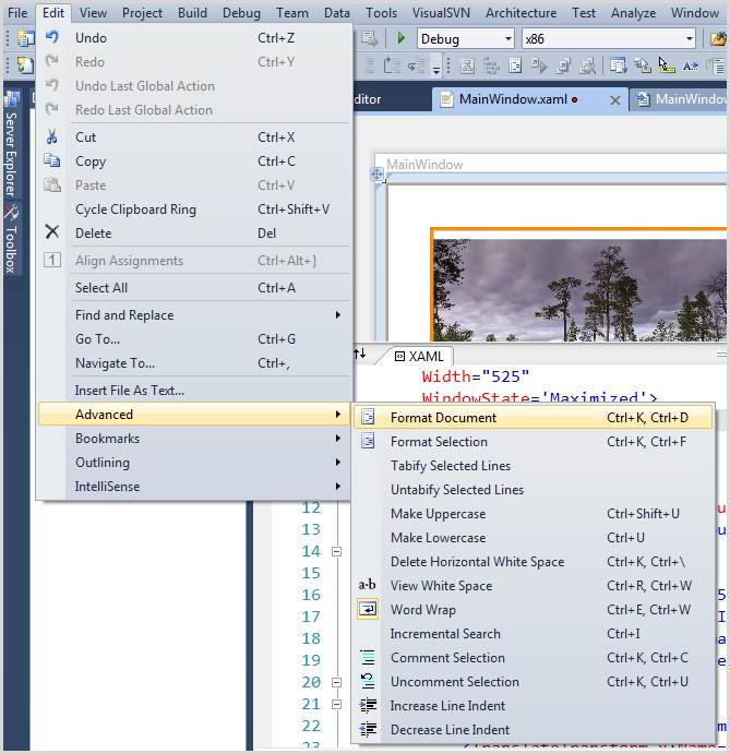 Setting up the XAML editor in Visual Studio 2010