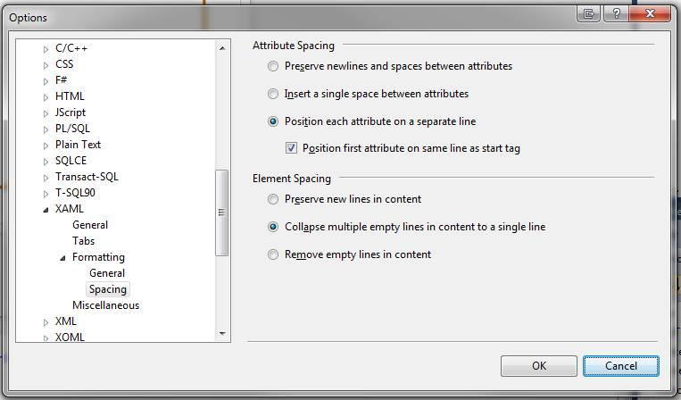 Setting up the XAML editor in Visual Studio 2010