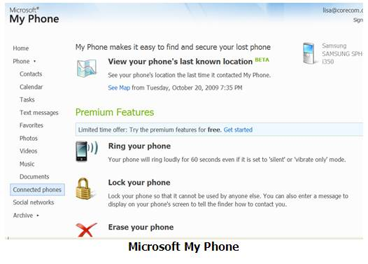 Microsoft MyPhone. Click to view the full-size image.