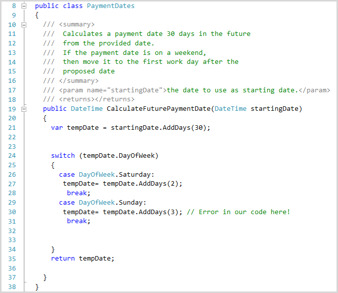 Unit testing in Visual Studio 2010