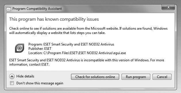 Windows 7 compatibility: Solving Hardware, software issues