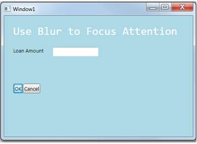 Use the WPF blur effect to focus attention in your UI