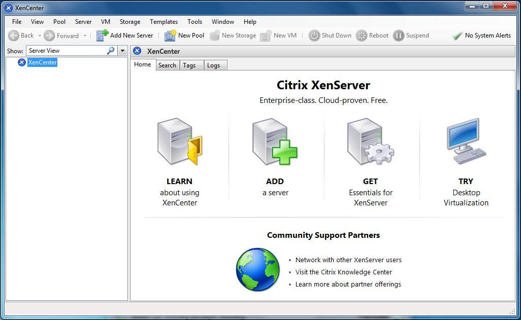How to download and install a new version of xencenter.