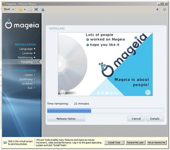 Linux Mageia 2 install