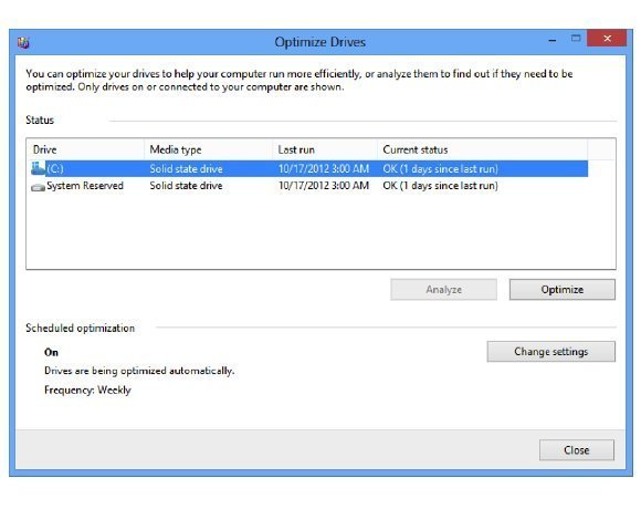 Windows 8 Storage Optimizer