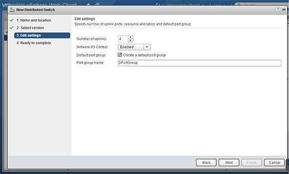 Create new vDS uplinks