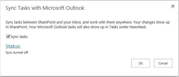 Figure 3. Tasks will be kept in sync between Outlook and SharePoint.