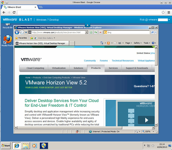 Windows desktop with Blast.