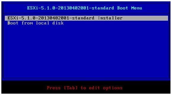 ESXi 5.1 Standard Installer.