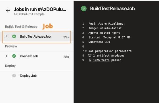 Details of a task titled dotnet test in Azure Pipeline.